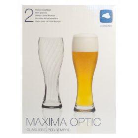 LEONARDO MAXIMA OPTIC beer glass set of 2 (new)
